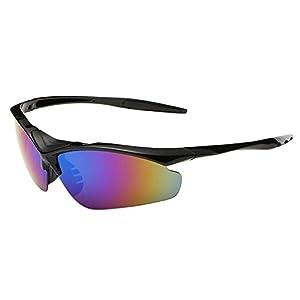Flank Outdoor Cycling Glasses Bike Bicycle Sunglasses Polarized Sunglasses Eyewear (B)