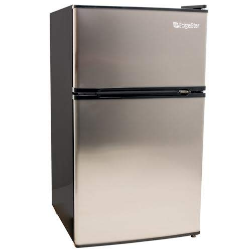"""EdgeStar CRF321SS 3.1 Cu. Ft. Dorm Sized Energy Star Compact Fridge/Freezer"""