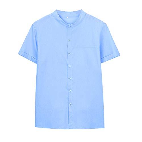 Men's Cotton Linen T-Shirt,LuluZanm Sale Summer Vintage Baggy