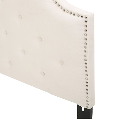 Soleil Ivory Fabric Queen/Full Headboard