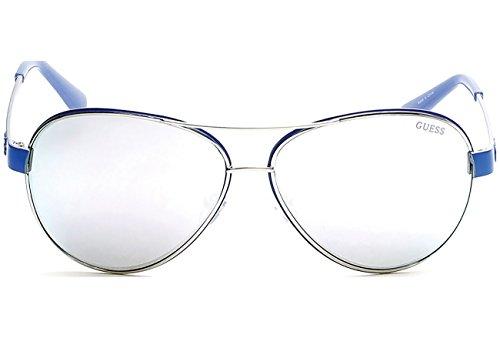Silver Mirror GU7443 Guess Mirror Sonnenbrille GU7443 Silver Guess Sonnenbrille Guess EUA0cqdUw