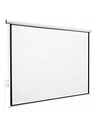 DFM 100'' Diagonal 4:3 80'' X 60'' Ratio Motorized Electric Auto HD Projection Screen with Electric Remote Control by DFM