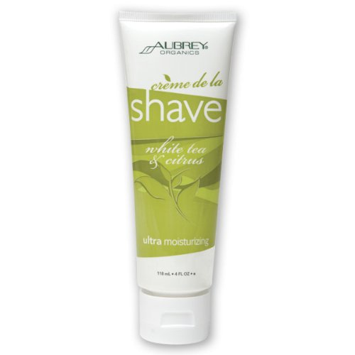 Aubrey Organics Shaving Cream (Aubrey Organics Creme de la Shave White Tea and Citrus -- 4 fl oz)