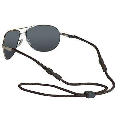 Chums 5mm Universal Fit Rope Eyewear Retainer, Black (2 Pack)