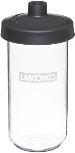 Labconco Flask - Labconco Fast Freeze 7540900 Borosilicate Glass Wide Mouth Flat Bottom Complete Flask, 900ml Capacity