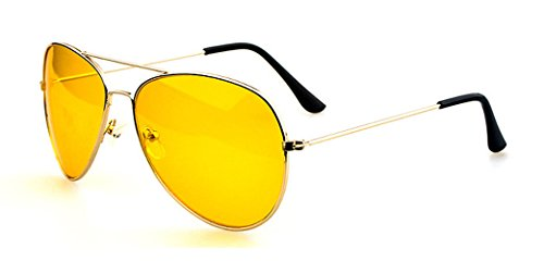 aviateur Or pour design en de retro nocturne soleil Monture hommes Verres Lunettes métal Vision wYRTqC