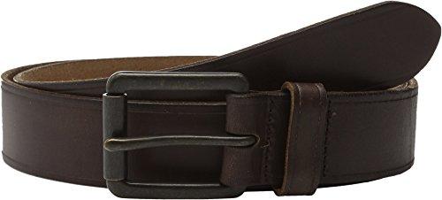 Johnston And Murphy Mens Belt Buckle - Johnston & Murphy Burnished Roller Buckle Belt (44 - Brown)