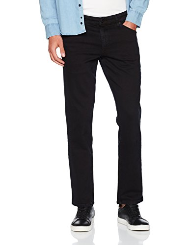 Greensboro Jeans Leg Overdye black Nero Uomo 36w Wrangler Straight 32l 04 UwTdST