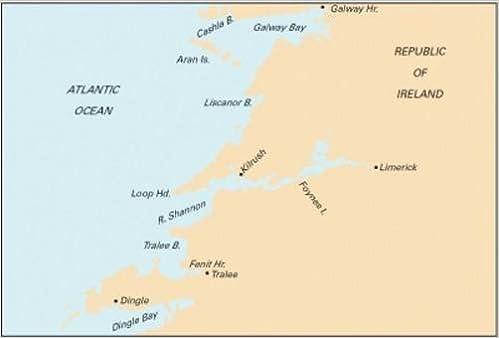 Dingle Bay Ireland Map.Imray Chart C55 Dingle Bay To Galway Bay Imray 9781846233296