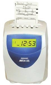 Amano Mrx35 Time Clock Recorder System