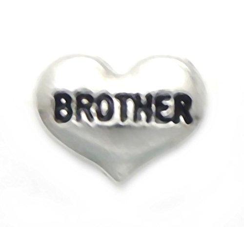 - Cherityne Brother Heart Floating Charm for Locket Pendants