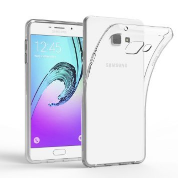 huge discount 3b7fe 18f67 RTCO™ Stylish Soft Flexible Silicone Transparent Case Back Covers for  Samsung Galaxy A7 2016/A710 Free Tempered Glass Screen Protector