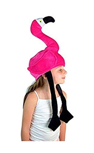 Needzo Child's Sitting Pink Flamingo Floppy Party Hat Accessory -