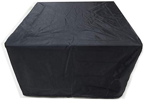 家具カバー ガーデン家具カバー 防水 通気性 オックスフォード生地 長方形 パティオセットカバー 、ブラック JFIEHG-7 (Size : 125X125X75cm)