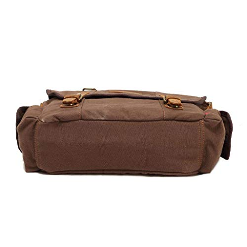 74 L Hombro 15 Bag 14 Brown Hombres 33 W Retro Zip Maletín Messenger Dgskrb H Simple 96in Canvas 4 vZqf4A