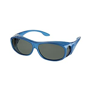 LensCovers Sunglasses Wear Over Prescription Glasses. Polarized Size Medium.