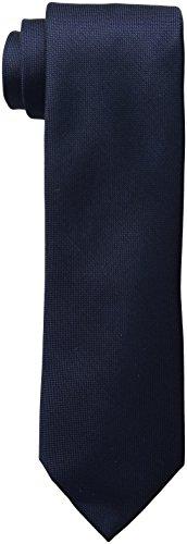 Calvin Klein Men's Silver Spun Solid Tie, Navy, Regular