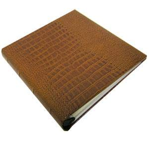 Our COMPACT Croco-Tan soft bonded leather album - ()
