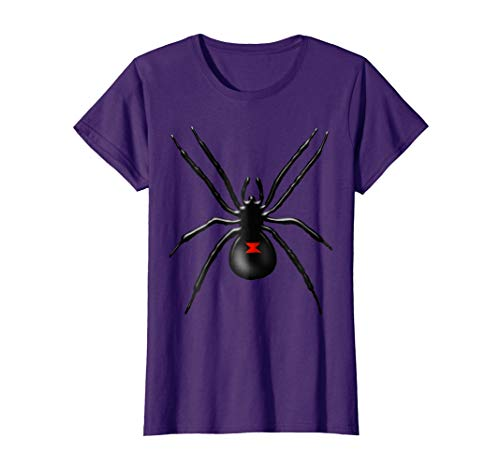 Womens Black Widow Spider Halloween Costume T Shirt Large -