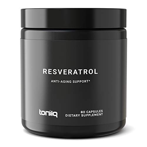 (Ultra High Purity Resveratrol Capsules - 98% Trans-Resveratrol - The Strongest Antioxidant Supplement Available - Optimal Support for Anti Aging and Immune Health - 60 Veg Caps Reservatrol Supplement)