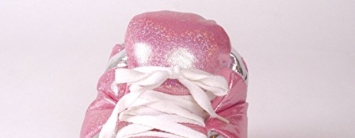 Happy Feet Mens and Womens Standard Sneaker Slippers Pink Sequin hZpnYpb