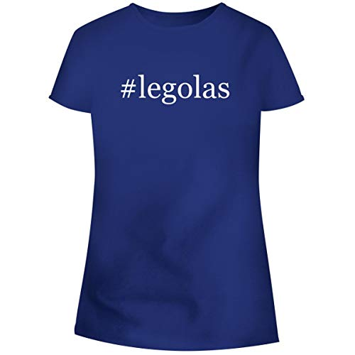 One Legging it Around #Legolas - Hashtag Women's Soft Junior Cut Adult Tee T-Shirt, Blue, Large