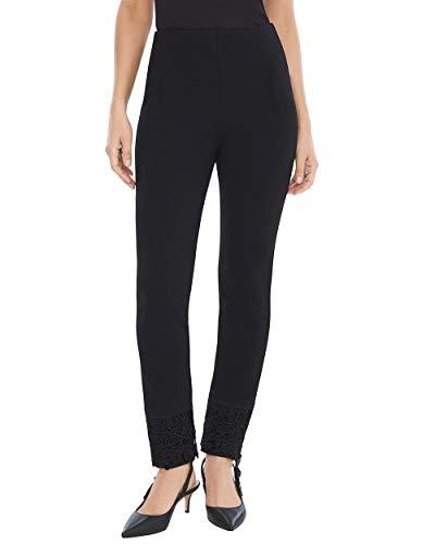 limming Juliet Lace-Hem Ankle Pants Size 14 L (2.5 REG) Black ()