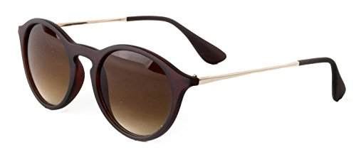 62f4410dbb08 Optimum Optical Unisex Round Keyhole Bridge Sunglasses, Chelsea (Tortoise,  Brown)