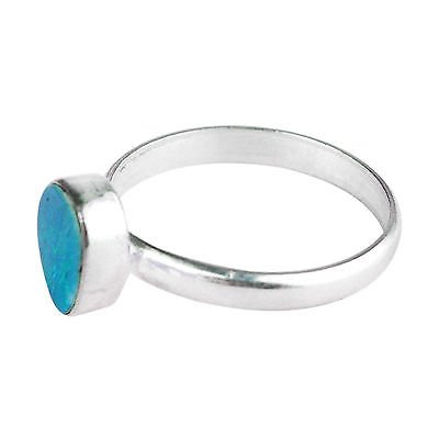 925 Sterling silver Opal Doublet Ring Size 7 US 1.79 -