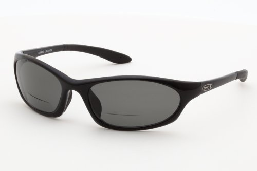 Ono's Grand Lagoon Polarized Bi-Focal Sunglasses in Black with Grey Tinted - Sunglase