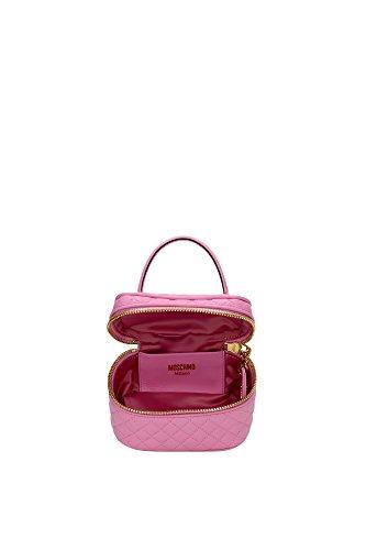 Bolso de Mano Moschino Mujer Piel Rosa y Oro 2A751180020222 Rosa 9x11x15 cm