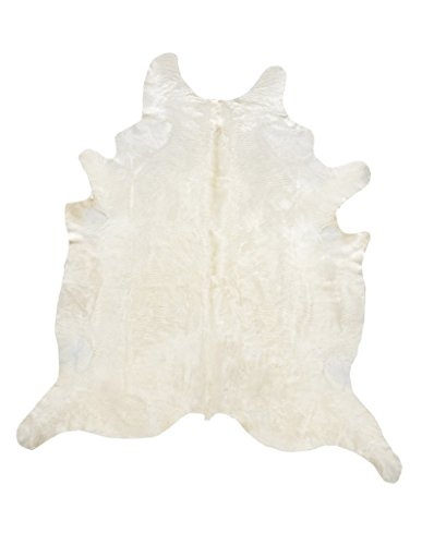 - RODEO Natural off White/ Beige Brazilian Cowhide Rug Size Large