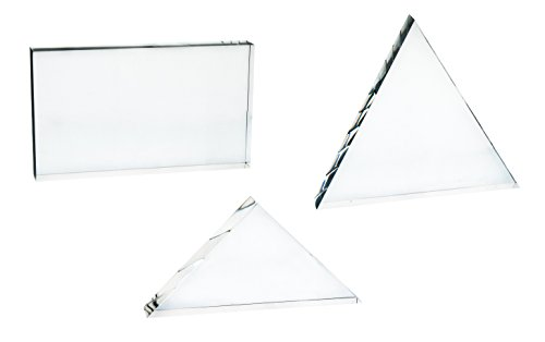 Set 3 Large Acrylic Blocks for Light and Prism Demonstrations - Rectangle (7.5