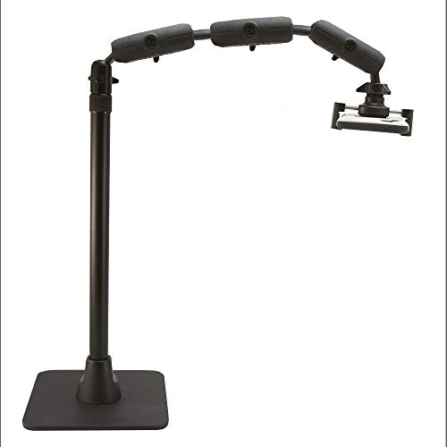 Arkon Pro Phone Stand for Live Streaming Baking Crafting Stamping and Art or Tutorial Videos Black ()