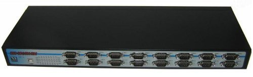 VSCom USB 16 Port Serial Adapter (RS232) [Black] by VSCom