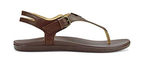 Olukai Eheu - Womens Comfort Sandal Kona Coffee/Kona Coffee - 8