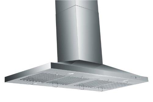 Z Line GL2-48-LED Stainless Steel Island Mount Range Hood, 48-Inch ()