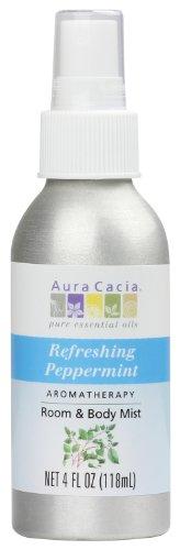 Aura Cacia Room and Body Mist, Refreshing Peppermint, 4 Fluid Ounce