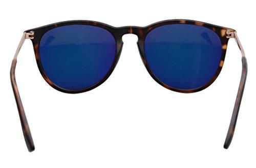 Eyekepper Lunettes de soleil Ronde UV 400 Protection Toutes les activites en plein air Femme DEMI-Jaune