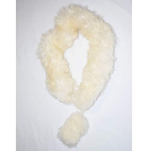 (100% Baby Alpaca Fur Scarf ~ Natural Fiber Wrap for Women ~ Off)