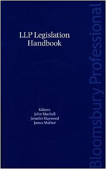 Book LLP Legislation Handbook 2009: the New Law by John Machell (2010-05-28)