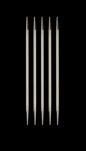 HiyaHiya Double Point 6 inch (15cm) Steel Knitting Needles (Set of 5) Size US 9 (5.5mm) HISTDP6-9 ()