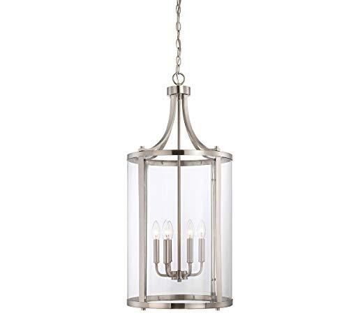 Savoy House 7-1041-6-SN, Penrose 6-Light Medium Foyer Lantern, Satin Nickel