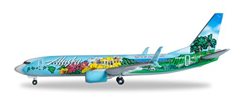 HERPA Alaska 737-800 Spirit of The Islands REG#N560AS Die Cast Aircraft (1/500 Scale) (Alaska Airlines Model compare prices)