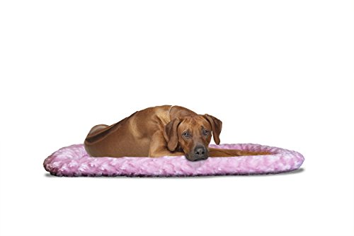 FurHaven Pet Kennel Pad   Ultra Plush Bolster Pet Bed for Kennels & Crates, Strawberry, X-Large