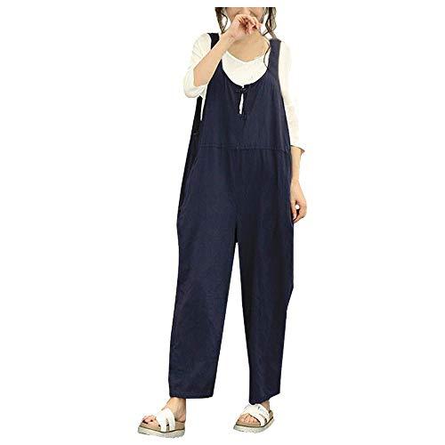 Salopette avec Mode Jumpsuit Combinaisons Vintage Femme Bretelles Chic 66rZWSq