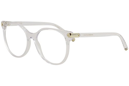 Dolce & Gabbana Eyeglasses D&G DG5032 DG/5032 3133 Crystal Optical Frame 53mm (Clear/Gold, 53)