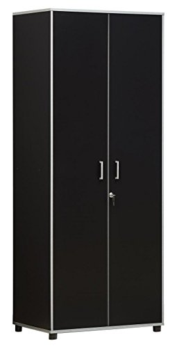 SystemBuild 7467056COM Apollo Tall Cabinet Black by SystemBuild