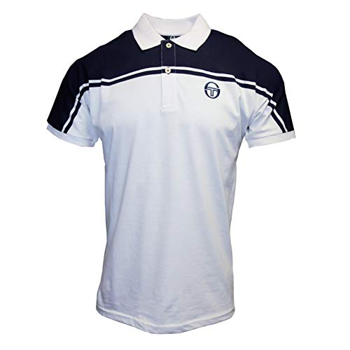 (Sergio Tacchini New Young Line Archivio Tennis Polo - SS19 - Large - Navy Blue)