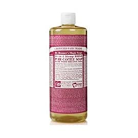 Dr. Bronner's Magic Soaps Dr Bronner'S Rose Castile Liquid Soap ( 1X32 Oz) by Dr. Bronner 44 Brand New